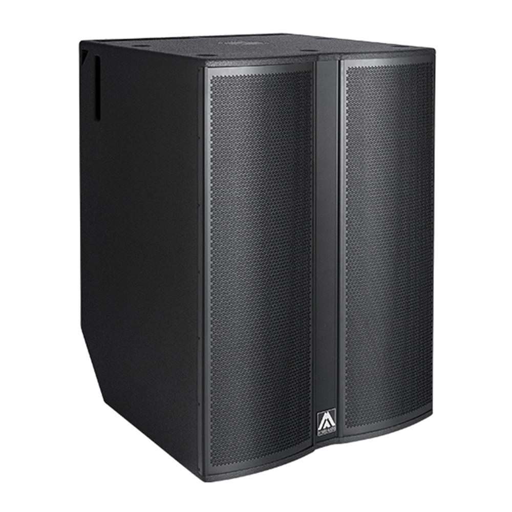 Amate Audio N218W Bộ khuếch đại (công suất chương trình) 2500 W Class D Độ nhạy đầu vào 2 dBu - 1 V Trở kháng đầu vào cân bằng 20 kΩ Mains Chế độ chuyển đổi phổ quát Nguồn điện 85-265 V / 45-65 Hz Bốc thăm trung bình hiện tại 3,5 A (Chương trình âm nhạc nặng) SPL (1m) liên tục 137 dB, đỉnh 140 dB Bộ xử lý DSP 48 bit tích hợp. Bao gồm các cài đặt trước nhà máy. Bộ chuyển đổi AD / DA 24 bit - 48 kHz Tiêu thụ ở chế độ chờ <5 W Đường trễ điều chỉnh 118 ms / 40m Đáp ứng tần số (-10 dB) 30 Hz - 140 Hz  Các loa trầm của LF 2x 18 (cuộn dây 4) Chỉ thị (HxV) Đa hướng Cân nặng 100 kg Kích thước (HxWxD) 1046 x 740 x 780 mm Hoàn thiện ván ép bạch dương nhiều lớp với lớp phủ Polyurea® màu đen chịu lực cao Lưới thép 2 mm với lưới cách âm màu đen Trình kết nối 1 x XLR đầu vào / 1x liên kết XLR / 1x đầu vào AC PowerCon® / 1x liên kết AC PowerCon®