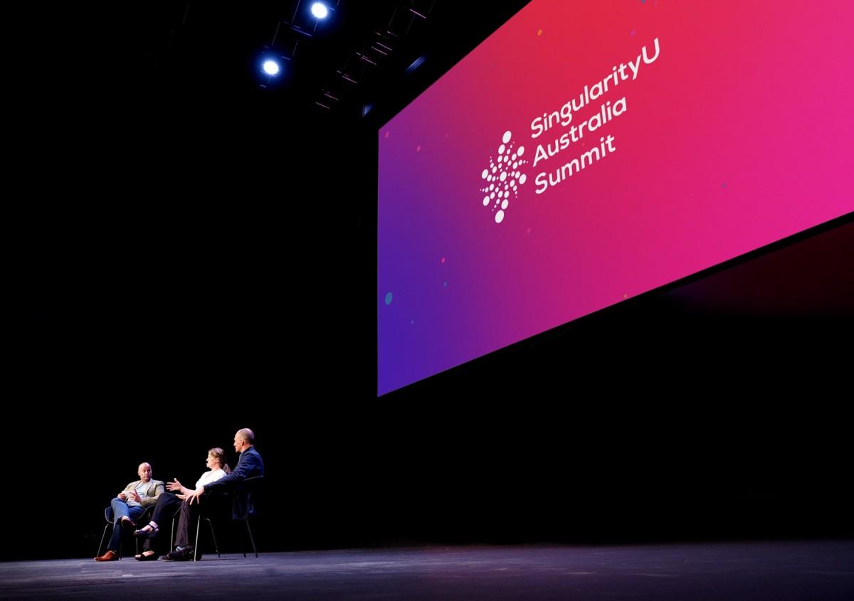 Backdrop cho sự kiện SingularityU Australia Summit