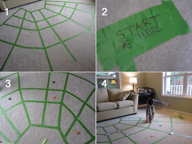 Bước trên mạng nhện - trò chơi đơn giản mang lại cho bé nhiều niềm vui