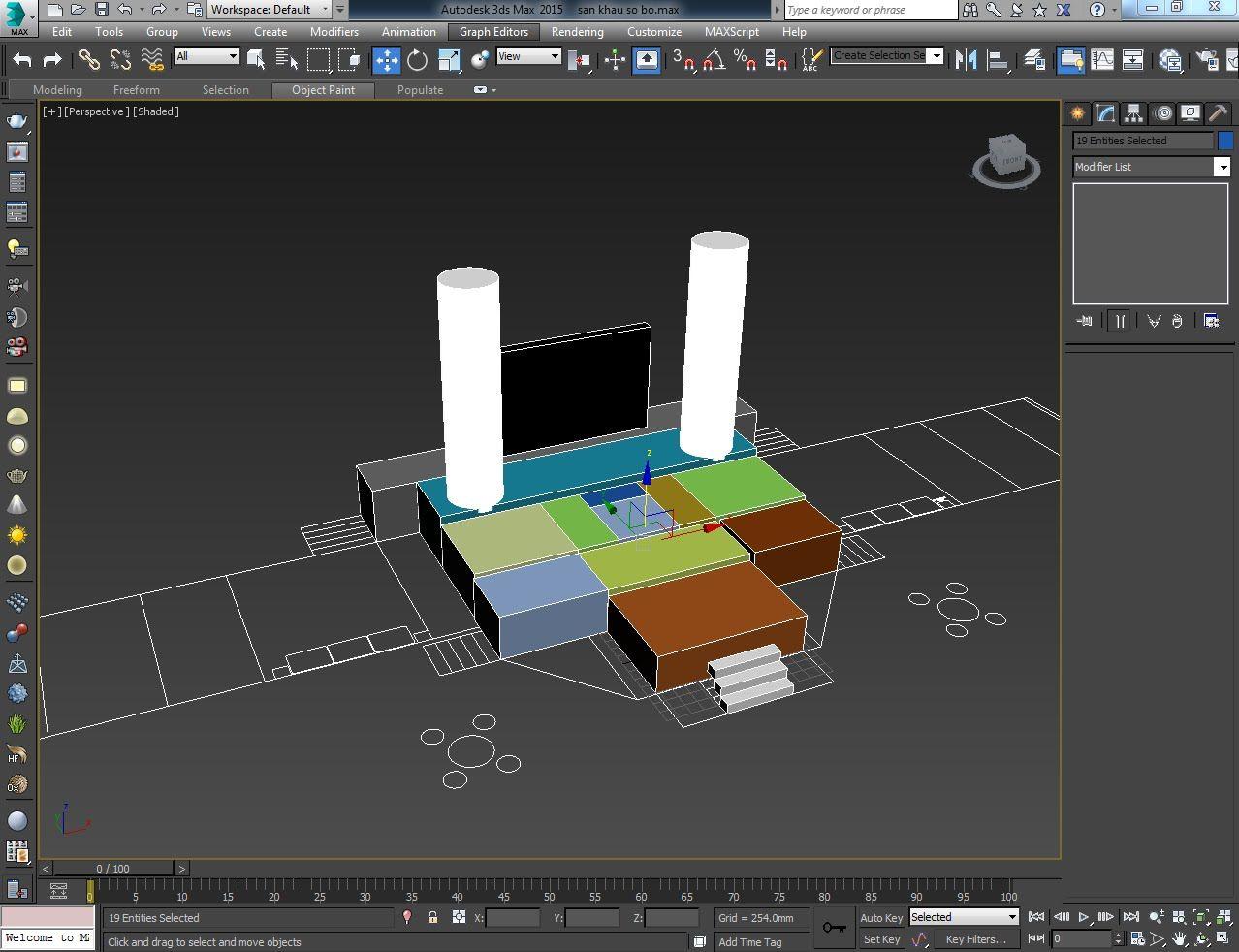 sơ đồ sự kiện 3D
